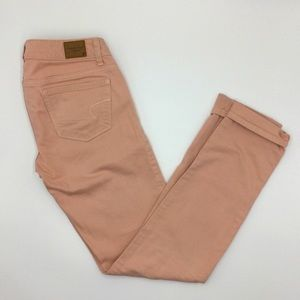AE OUTFITTERS| Blush Color Skinny Jeans SZ 0
